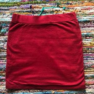 Red Body Con Skirt